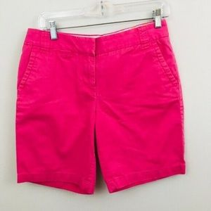 J.Crew Hot Pink Cotton Chino Shorts 4